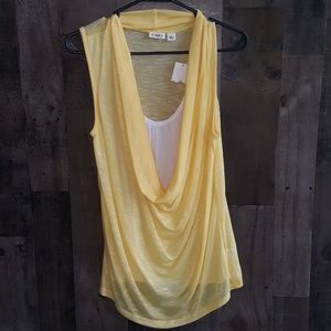 Nwt Jr Cato cowl neck sheer back top